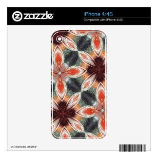 Flower Pattern iPhone 4S Decals