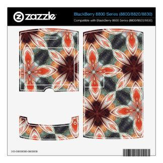 Flower Pattern Skin For BlackBerry 8820