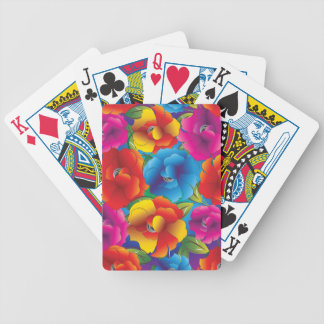 Flower Pattern Three Bicycle Playing Cards
