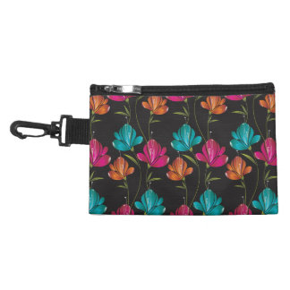 Flower Pattern Two Accessory Bag