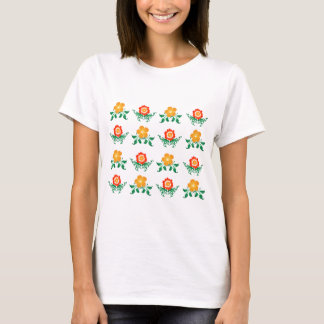 Flower Pattern: Vector Drawing: T-Shirt