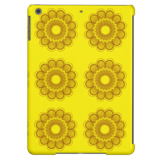 Flower Pattern Yellow Oranges Cover For iPad Air