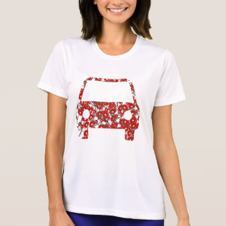 Flower-patterned car T-shirts