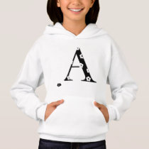 Flower Patterned Letter A Hoodie