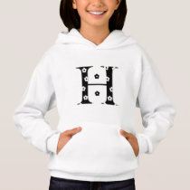 flower Patterned Letter H Hoodie