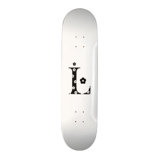 flower Patterned Letter L Skateboard