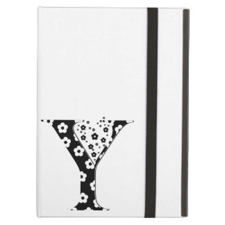 flower Patterned Letter Y Case For iPad Air