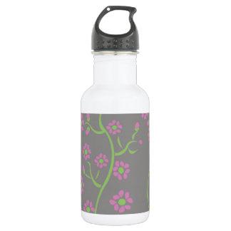 Flower patterns 18oz water bottle