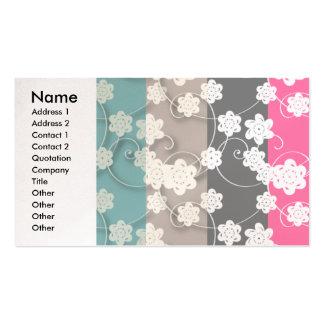 flower_patterns, nombre, dirección 1, dirección 2, tarjetas personales