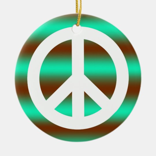 Flower Peace Sign Ornament
