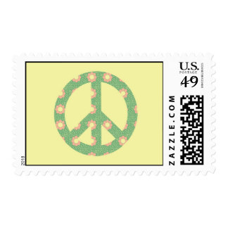 Flower Peace Sign Postage Stamp
