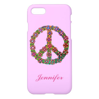 Flower Peace Sign Symbol Personalized iPhone 7 Case
