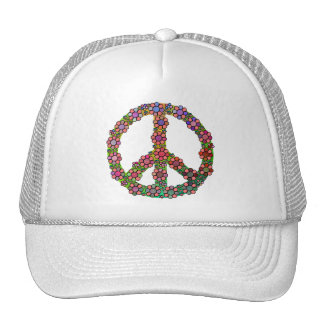 Flower Peace Sign Symbol Pretty Hat