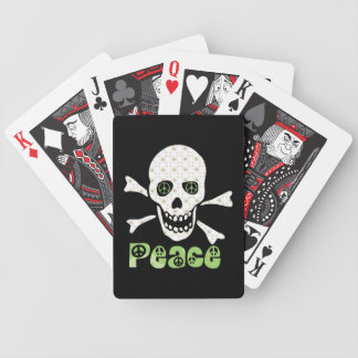Flower Peace Skull Bicycle Playing Cards