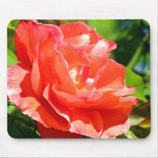 Flower peach mouse pad