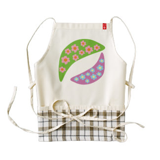 Flower Peas Zazzle HEART Apron