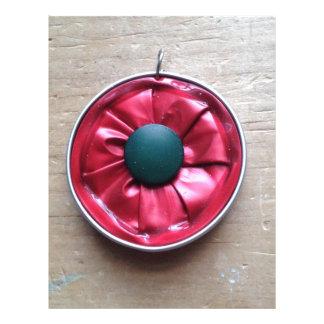flower pendant for necklace- nespresso jewelry letterhead