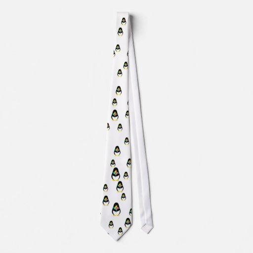 Flower Penguin Necktie