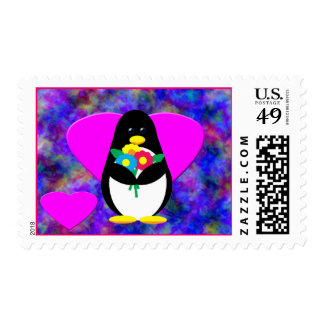 Flower Penguin Postage