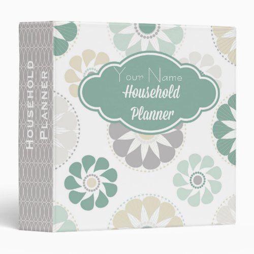 Flower Personalized Home Organization Binder