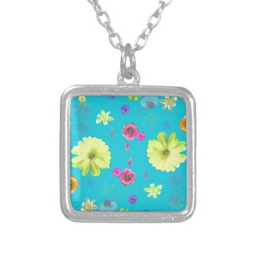 flower personalized necklace