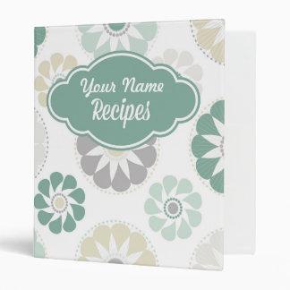 Flower Personalized Recipe Binder