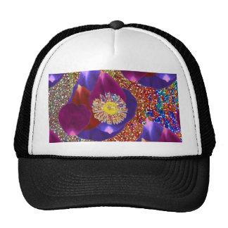 Flower Petal Art n Sparkle Jewel  background Trucker Hat