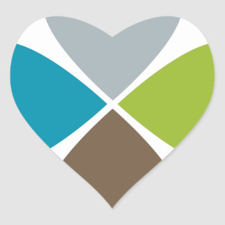 Flower Petal Financial Business Chart Heart Sticker