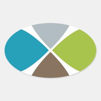 Flower Petal Financial Business Chart Oval Sticker