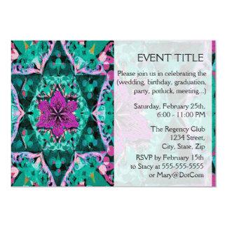 Flower Petal Mandala Design 5x7 Paper Invitation Card