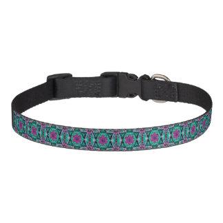 Flower Petal Mandala Design Dog Collars