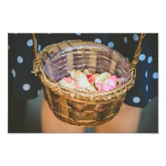 Flower petals basket photo art