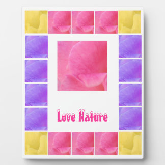 FLOWER Petals  - Replace Text n Centre Image Plaque