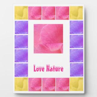 FLOWER Petals  - Replace Text n Centre Image Plaque