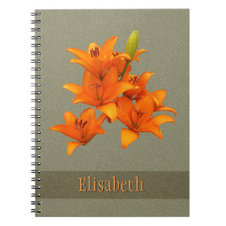 Flower Photo Orange Garden Lilies any Name Notebook