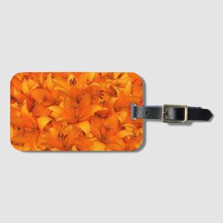 Flower Photo Orange Garden Lilies Luggage Tag