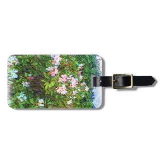 Flower photo painting travel bag tag