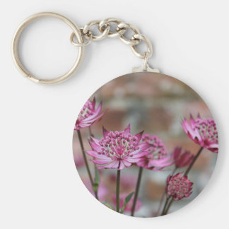 Flower photo Purple Astrantia picture Keychain