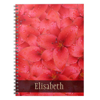 Flower Photo Red Garden Lilies any Name Notebook