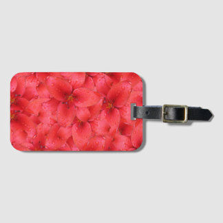 Flower Photo Red Garden Lilies Luggage Tag