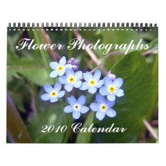 Flower Photographs, 2010 Calendar