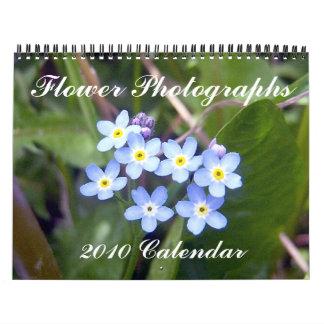 Flower Photographs, 2010 Calendar