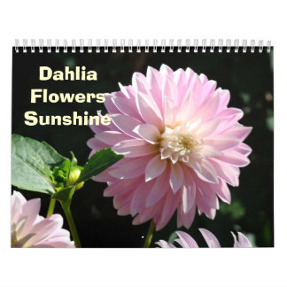 Flower Photography Calendar DAHLIA Flowers Floral