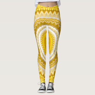 Flower Photography Spring Yellow Daffodils Mandala Leggings