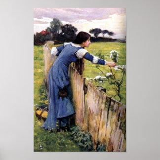 Flower Picker by John Waterhouse Print