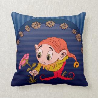 Flower Picking Elf Pillows