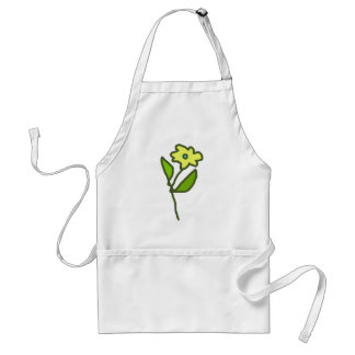 flower picture adult apron