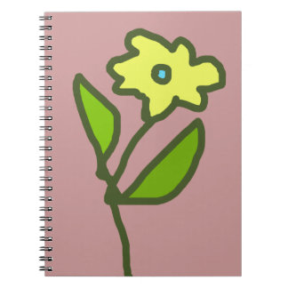 flower picture spiral note book
