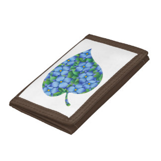 Flower picture - Small blue flower Trifold Wallet