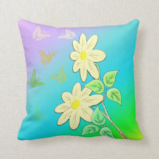 Flower picture throw pillow